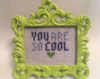 You Are So Cool True Romance Cross Stitch