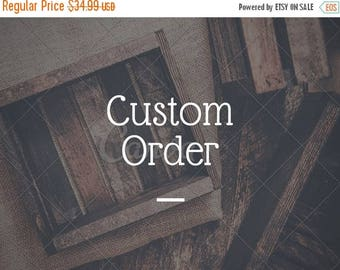 ON SALE CUSTOM Sign Order - 24 x 9.5 inch wood sign - Create your own sign listing