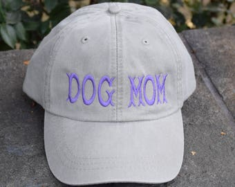 Dog Mom Baseball Cap - Dog Lover Hat - Gift by Three Spoiled Dogs