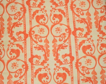 Lullaby by Tina Givens for Free Spirit Fabric, Heart Fabric, Orange and Yellow Quilting Fabric, Coral Orange Quilting Fabric
