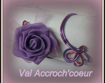 Bracelet romance Leila purple and pink