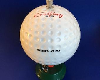 Novelty Golf Ball Ice Bucket Mid Century Vintage Barware