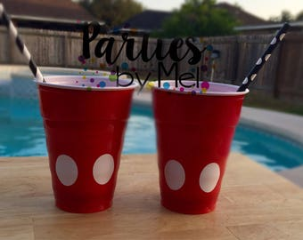 Mickey Mouse cups, Mickey Party cups, Mickey Mouse club house, Birthday cups, Mickey Mouse birthday party decorations, Mickey Mouse Party