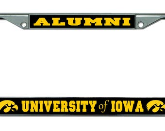 University of Iowa Alumni Chrome License Plate Frame