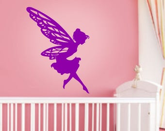 Fairy, Wall Sticker,  Kids room, Interior Sticker,  Window Sticker, Car Sticker, Wall Decal, Wall Decor