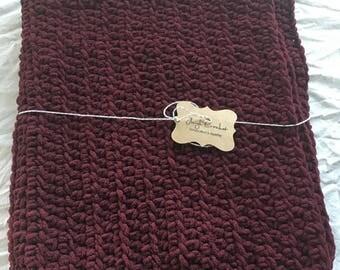 SALE! Maroon baby blanket