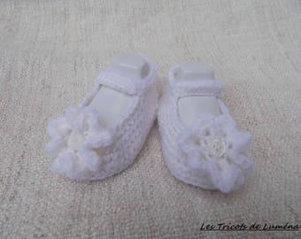 """Megan ballerinas"" slippers very soft hand crochet"