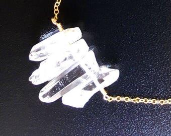 Medium Crystal Point Necklace