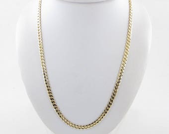 """14K Yellow Gold Cuban Link Chain Necklace 20"""" 17.6 grams"""