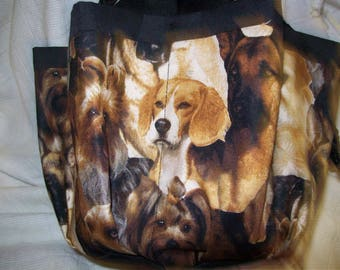 Favorite Dogs Cloth Bingo Bag