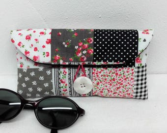 Patchwork fabric glasses case, women glasses case sunglasses case