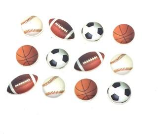 Sports Theme Push Pins Thumb Tacks Baseball, Soccer, Football, Football x12