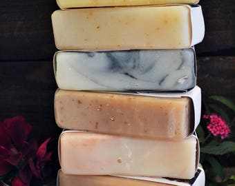Soap Sampler | Soap Bundle | Buy 5 Get 1 Free | Choose your Scent | Rustic Soap | Handcrafted in Iowa | Paint Creek Soaps