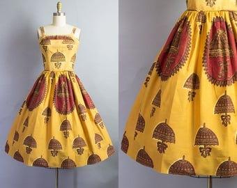 1950s Umbrella Print Sundress/ XS (33B/25W)