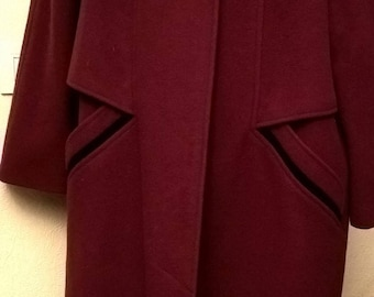 Great vintage Burgundy coat