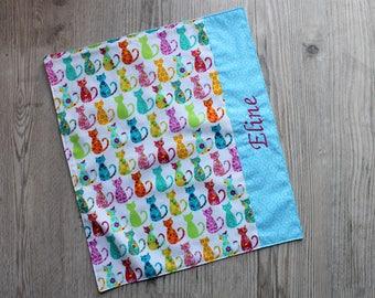 Birthday, canteen * napkin, canteen, alike, cotton, colorful cats custom