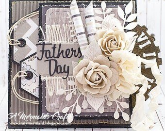 Shabby Chic Layered Father's Day Card