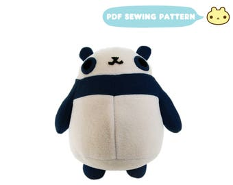 Panda Sewing Pattern, Stuffed Pattern, Panda Pattern Sewing Pattern, Stuffed Panda Sewing, e Pattern, Stuffed Animal Sewing, Plush Panda