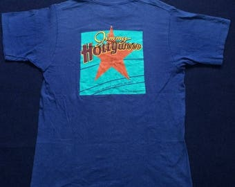 ON SALE 26% Vintage Jimmy Hollywood 90s Rare T shirt