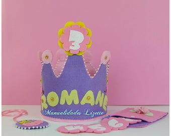Crown and medal Peppa Pig-birthday-gift-party-fantasy-girls-children-decoration-children