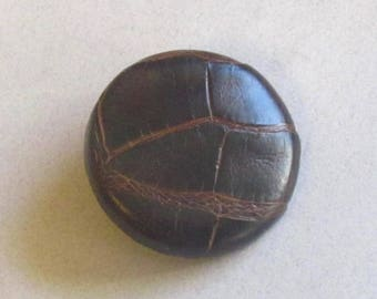 Alligator Leather Button