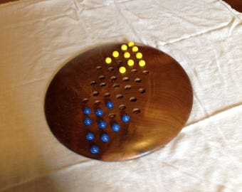 Hand made wood Chinese Checker board