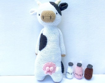 50% OFF Crochet Cow Doll   Stuffed Crochet Cow Toy   Cow Stuffed Animal With Utters   Cow Plush with Milk