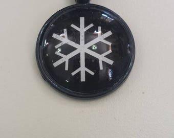"Snowflake Pendant 1"" by 1"""