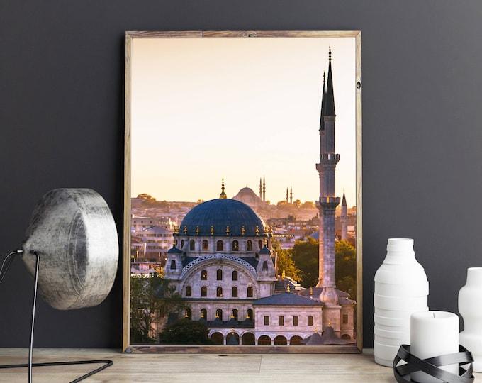 Featured listing image: Photographie Fine Art de la mosquée Nusretiye d'Istanbul en Turquie - Toile Photo d'Istanbul - Turquie