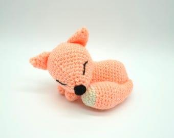 Crochet Fox, Sleeping Fox.