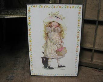 Holly Hobbie Picture, Holly Hobbie Plaque, Vintage Holly Hobbie, Holly Hobbie Doll, American Greetings, Holly Hobby, 1970s Holly Hobbie