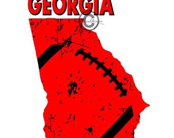 Football Svg, Georgia Football Svg, Distressed Football Svg, Football Dxf, Dxf For Cameo, Georgia Svg, Georgia Eps