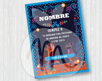 COCO! Printable and editable texts cards. Baby shower or birthday party! INSTANT DOWNLOAD! Miguel, Dante and Hector, remember me!