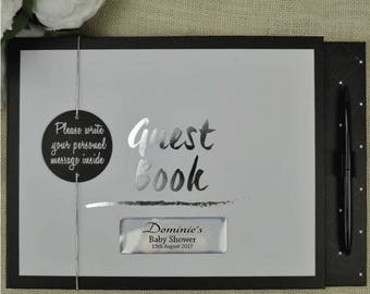 Black & White Baby Shower Guest Book