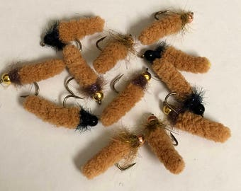 Mop flies, dust mop flies, Made in the USA, trout flies
