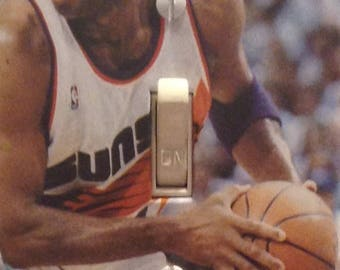 Sir Charles Barkley Basketball Legend Phoenix Suns Light Switch Cover Sports Bar Bathroom Bedroom Mancave Dorm Restaurant FREE US SHIPPING