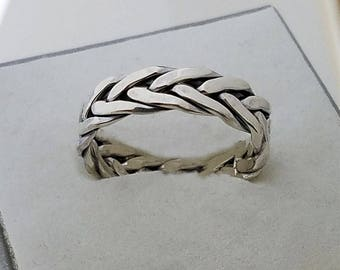 Mother's day gift Viking rings,Engagement rings,sterling celtic eternity ring,Popular ASGARD ring,Celtic braided knot ring,