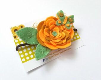 Felt flower Headband, Baby Headband, Butterfly headband, Flower Toddler headband, Felt Headband. Felt butterfly