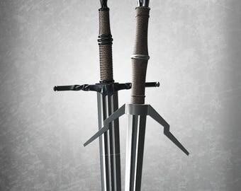 Witcher Steel and Silver Swords Bundle | 3D Printing | Digital Download | DIY
