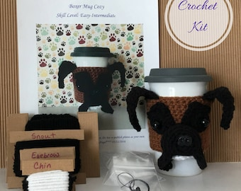 Crochet Boxer, Amigurumi Kit, Crocheting Kit, Crochet Pattern Dog, Crochet Kit, Crochet Gifts, Crochet Dog Pattern, Dog Crochet Pattern
