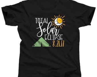 Total Solar Eclipse Shirt August 21 2017 - Viewing Party Tshirt - Astronomy Gift - Eclipse Clothing - Eclipse T Shirt - Eclipse Souvenirs