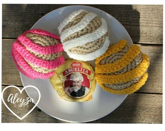 Set of 3 Crochet Mexican Pan Dulce Conchas