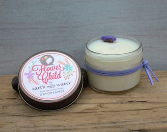 Daydreamer - Flower Child Collection - Mini 4 oz Soy Candle - Boho Decor - Boho Candles - Lavender - Patchouli