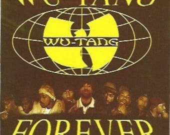 Wu-Tang Clan Sticker / Decal, Wu-Tang Forever, American Hip Hop, East Coast Rap, Vintage Sticker, 1990s