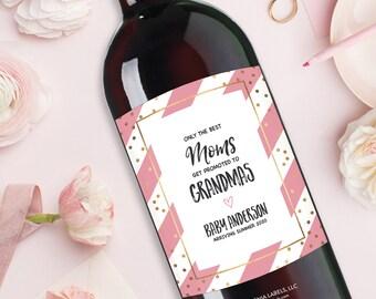 Pregnancy Announcement Grandparents, Pregnancy Announcement to Parents Wine Label, Announcing Pregnancy Cards, Pregnancy Announcement Family