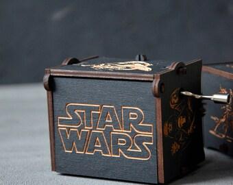 Boyfriend Star Wars Gift Personalized Wooden Music Box Custom Star Wars Musical Box 5th Wooden Anniversary Husband Gift Son Custom Gift