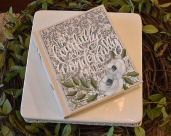 Hand Painted Bibles | Baptism Gift | Graduation Gift | Personalize | Custom | Home Decor Keepsake