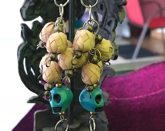 UNIQUE Dia de Los Muertos Earrings Handmade