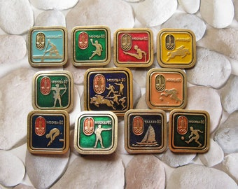 22nd Olympic Games Pins, Sports Collectible, 1980 Olympic Pin, Olympic Brooch, Moscow Olympics