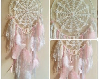 Dream - catcher with doily and name